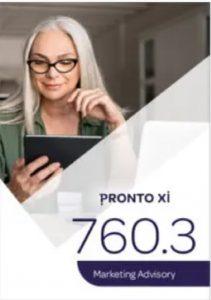 Pronto Xi 760 marketing advisory